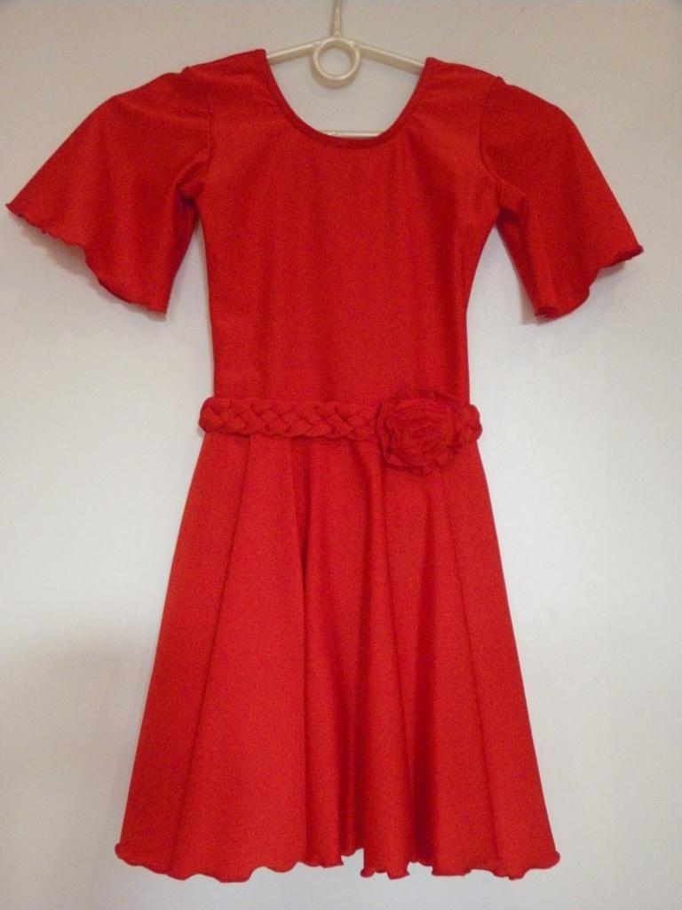 d2214e9a3666 Detské červené tanečné šaty