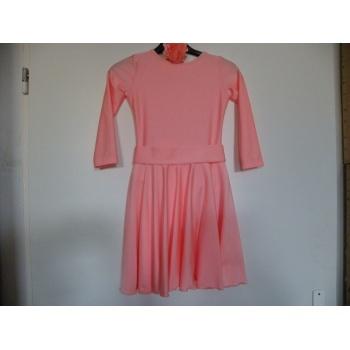 5a7c0d0e614e Detské broskyňové tanečné šaty